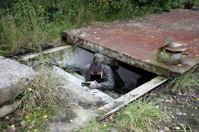 Notausstiegstunnel eines Bunkers  in einem ehemaligen VEB in Chemnitz