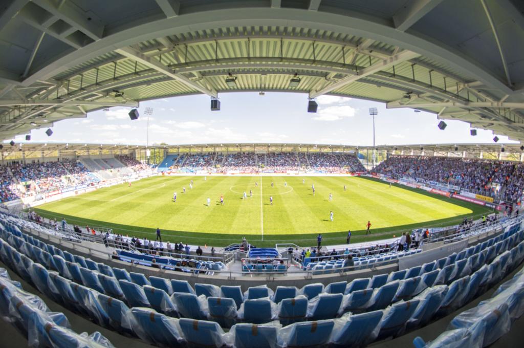 Das Stadion des CFC im Sommer 2016.